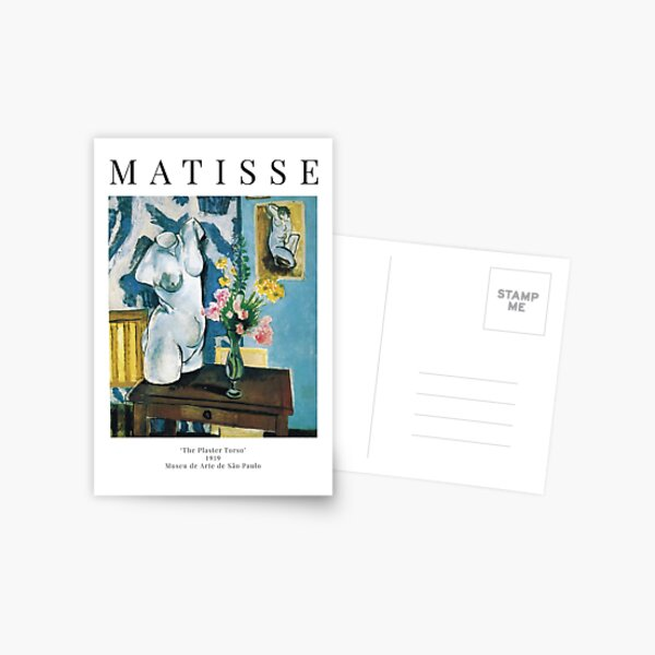 Henri Matisse - The Plaster Torso - Exhibition Poster Postcard