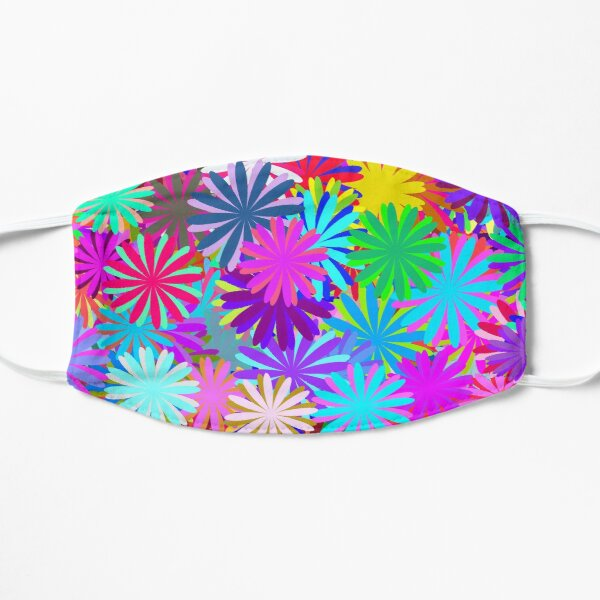 Meadow of Colorful Daisies Flat Mask