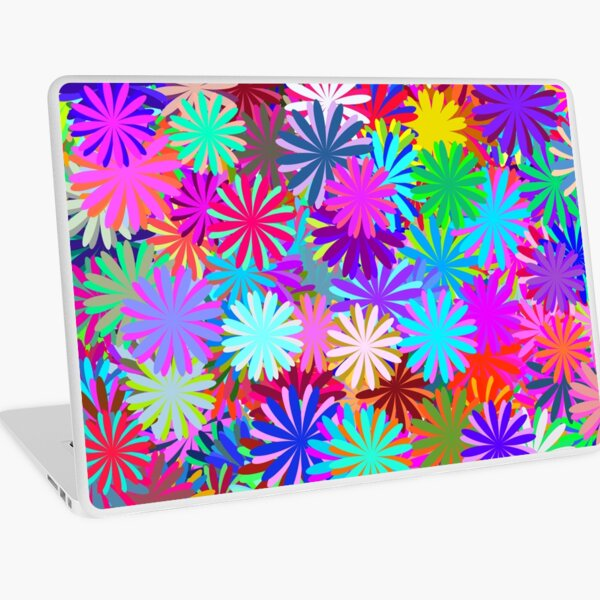 Meadow of Colorful Daisies Laptop Skin
