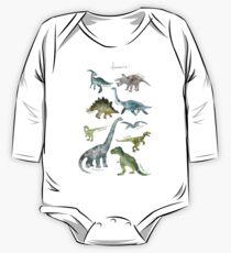 Body de manga larga para bebé Dinosaurios