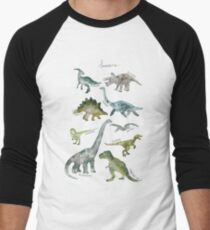 Dinosaurs Men's Baseball ¾ T-Shirt