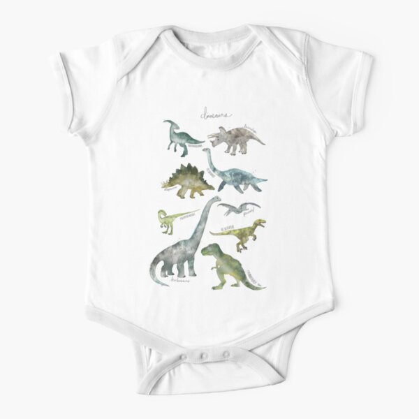Dinosaurs Short Sleeve Baby One-Piece