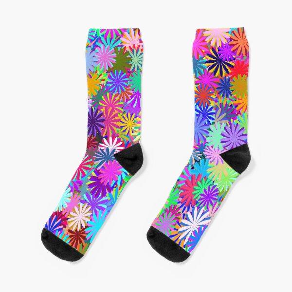 Meadow of Colorful Daisies Socks