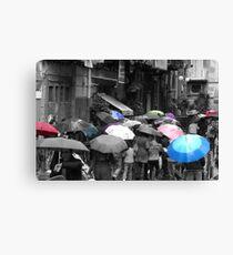 Colors in the Rain Canvas Print