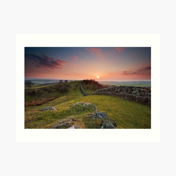 sunset hadrian's wall Art Print
