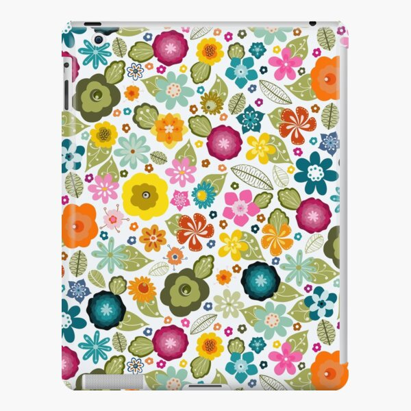 Multi-coloured Kitsch 70s Flowers iPad Snap Case