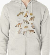 Foxes Zipped Hoodie