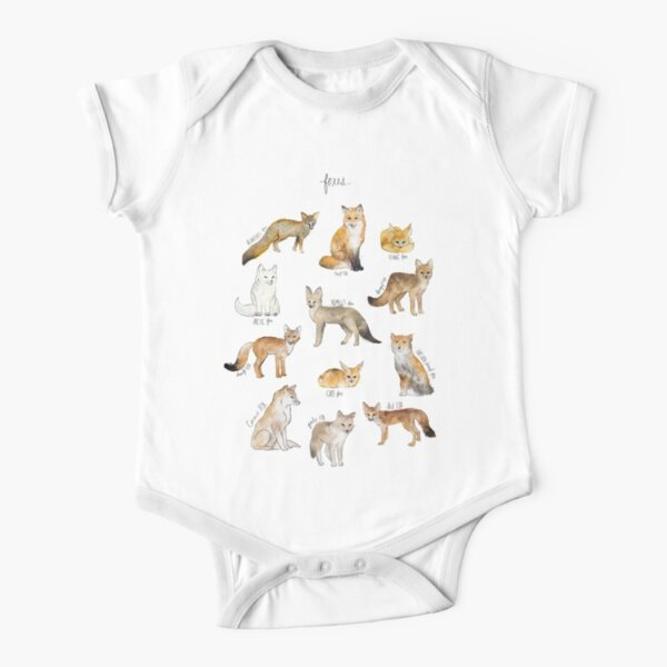 Foxes Short Sleeve Baby One-Piece