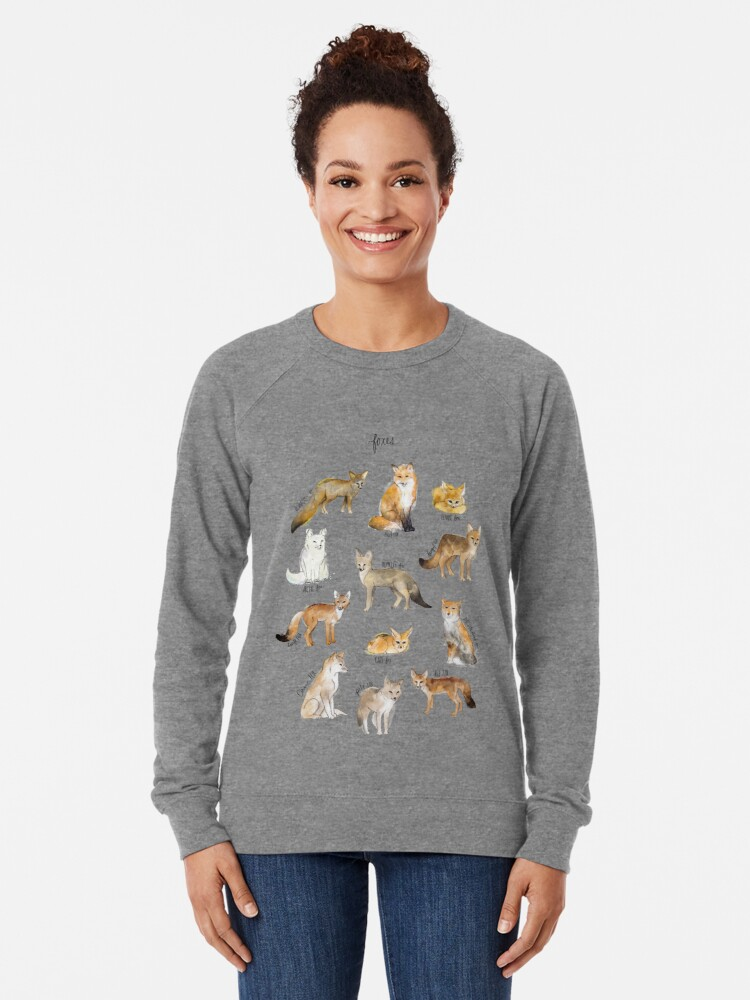 Alternate view of Foxes Lightweight Sweatshirt