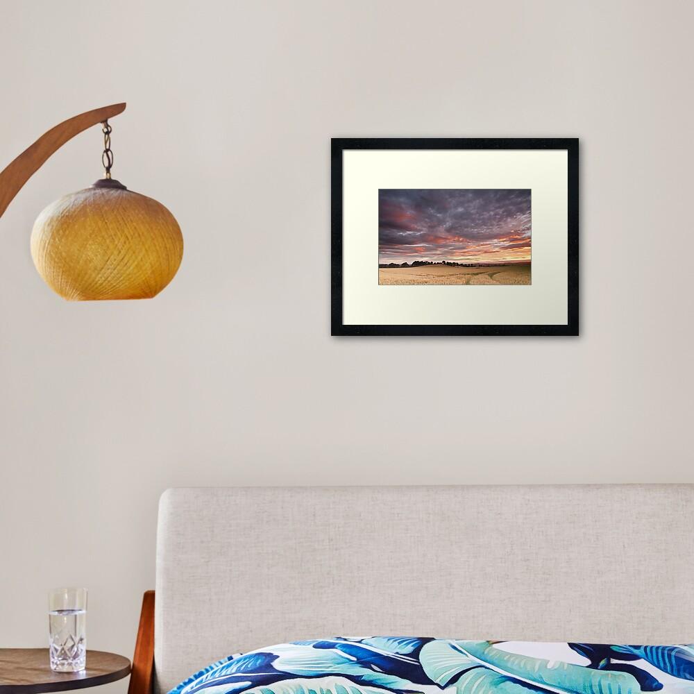 Field with a bump Framed Art Print