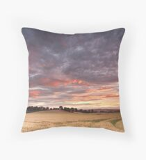 Field with a bump Throw Pillow