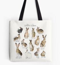 Kaninchen und Hasen Tote Bag