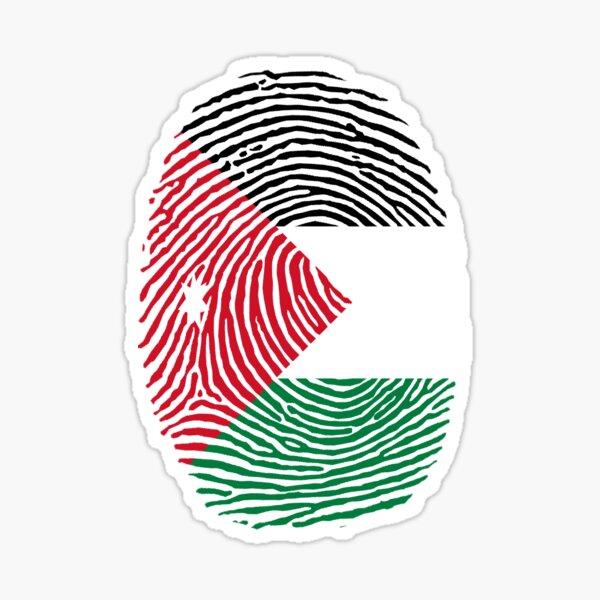 Jordan Fingerprint on Flag Stylish Design Sticker