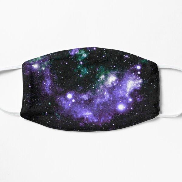 Galaxy Nebula Purple Teal Green  Flat Mask