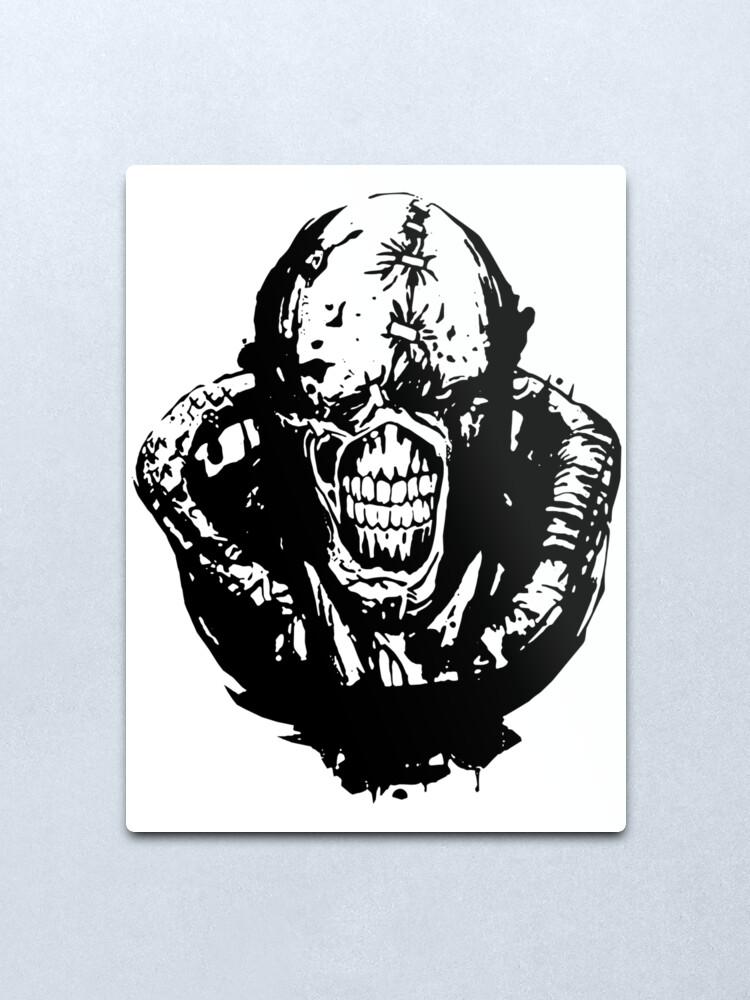 Resident Evil 3 Nemesis Art Drawing Metal Print By Jovanx011