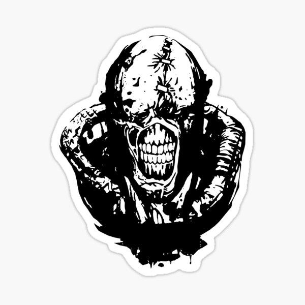 Resident Evil 3 Nemesis Art Drawing Sticker