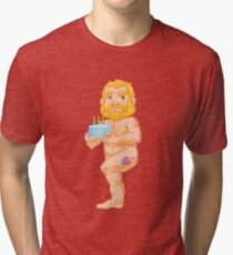 Birthday Bear Tri-blend T-Shirt