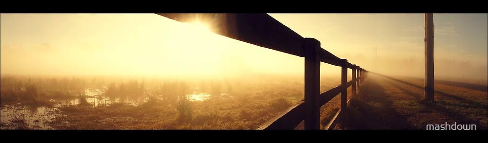 Foggy morning in Castlereagh by mashdown