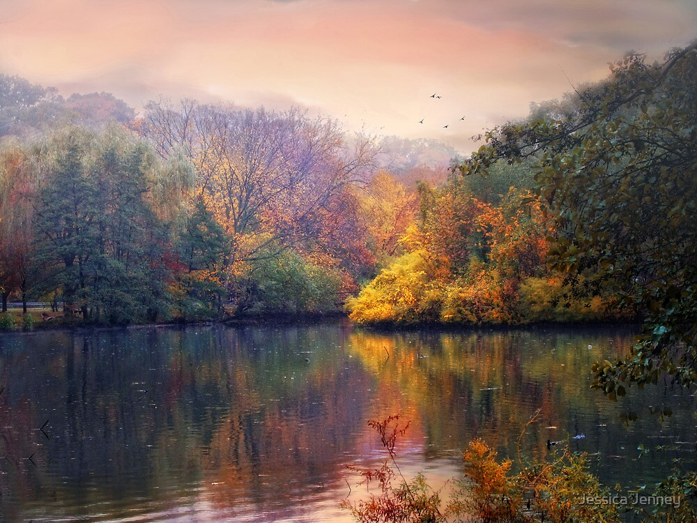 Autumn on a Lake by Jessica Jenney