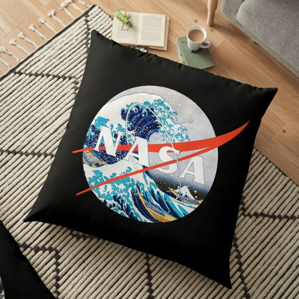 The Great Wave Off Chikyū Floor Pillow