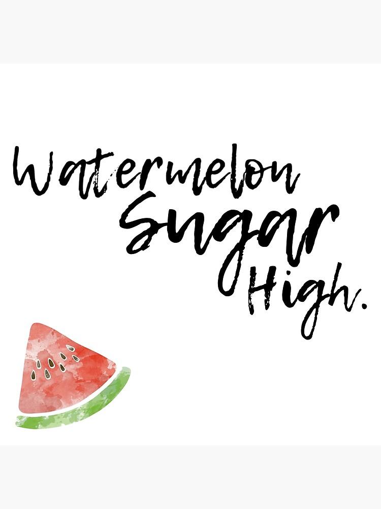 Watermelon Sugar High Postcard By Msawyer Redbubble