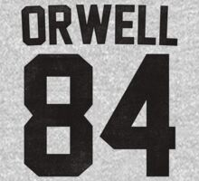 Orwell 84 Jersey - Black | Unisex T-Shirt