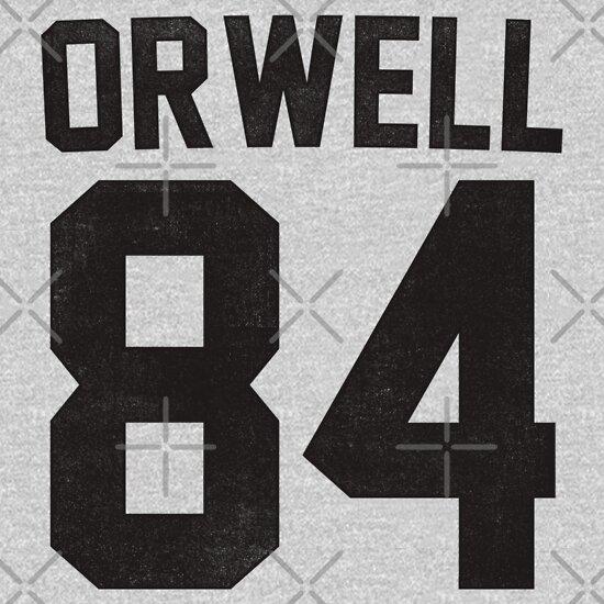 TShirtGifter presents: Orwell 84 Jersey - Black   Unisex T-Shirt