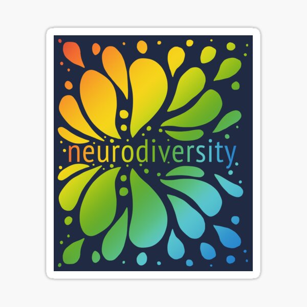 Neurodiversity Splash Sticker