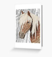 Haflinger Horse Greeting Card