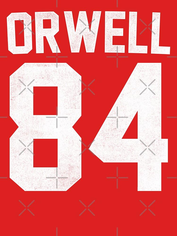 Orwell 84 Jersey - White | Unisex T-Shirt