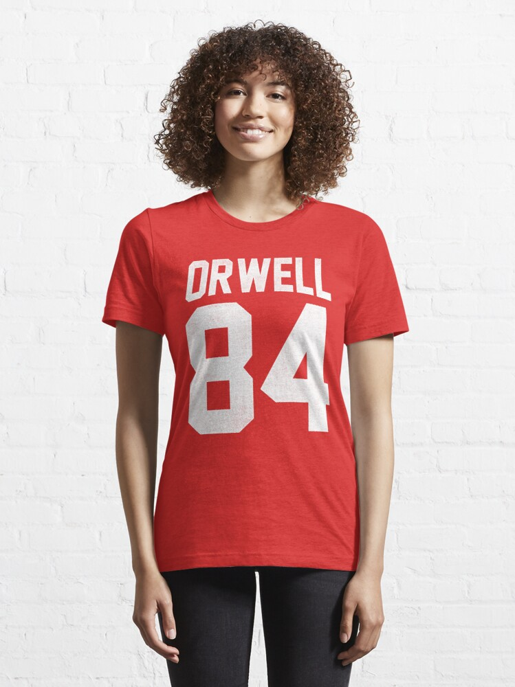 Alternate view of Orwell 84 Jersey - White Essential T-Shirt