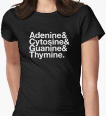 Adenine & Cytosine & Guanine & Thymine. - white design Women's Fitted T-Shirt