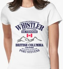 Whistler Ski Resort - British Columbia - Canada Womens Fitted T-Shirt