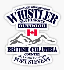 Whistler Ski Resort - British Columbia - Canada Sticker