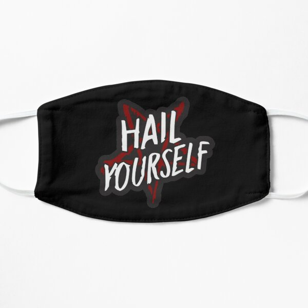 Hail Yourself Last Podcast On the Left Fan Art Occult Pentagram Hail Satan LPOTL Flat Mask