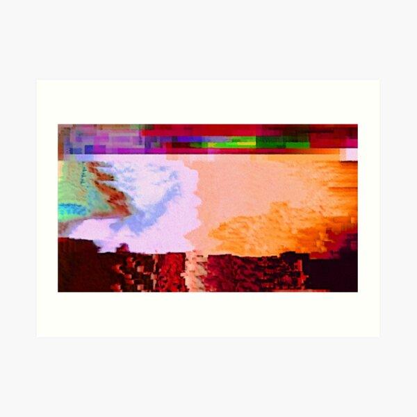 Video Glitch 3 Art Print