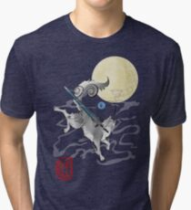 Camiseta de tejido mixto El gran lobo gris - Sifkami