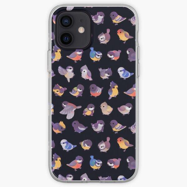 Little bird (Paridae) - dark iPhone Soft Case
