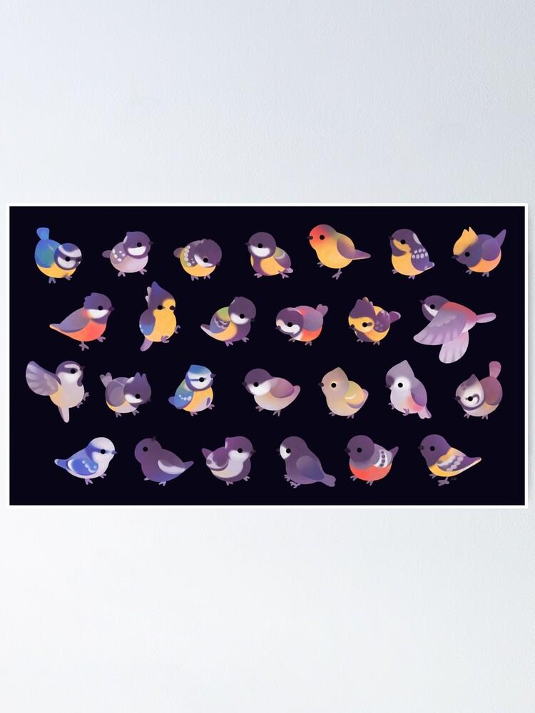 Alternate view of Little bird (Paridae) - dark Poster