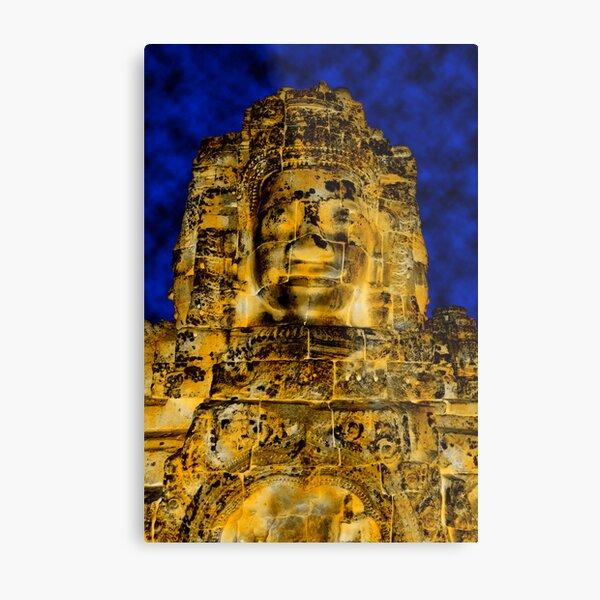 Golden faces of Bayon, Cambodia  Metal Print