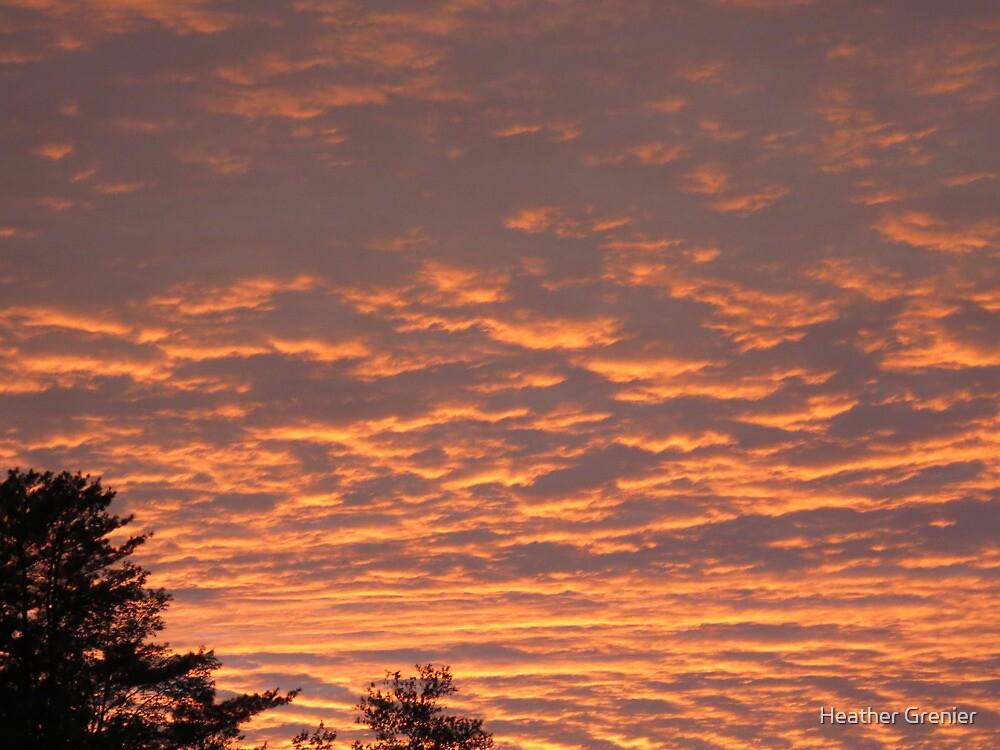 Ocean of Orange Clouds by Heather Grenier