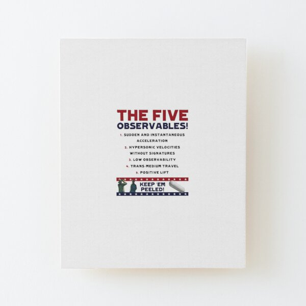 Five Observables (Dark Text) Wood Mounted Print