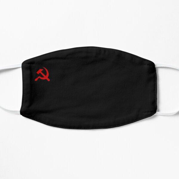 Communisme Logo Rouge Noir Masque sans plis