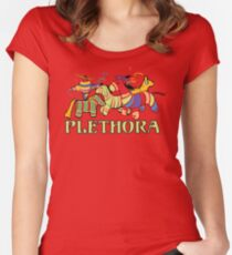 Three Amigos Would you say I have a Plethora of Pinatas? Women's Fitted Scoop T-Shirt
