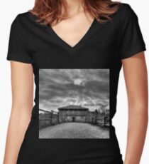 Timeless places Women's Fitted V-Neck T-Shirt