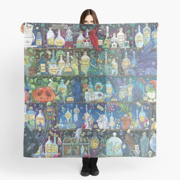 The Dark Arts, Poison and Potions, Witches Apothecary Art Scarf