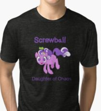 Screwball: The Daughter of Chaos Tri-blend T-Shirt