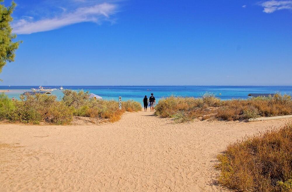 Walking on to the beach by georgieboy98
