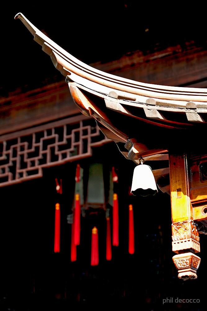 Chinese Roof Line by phil decocco