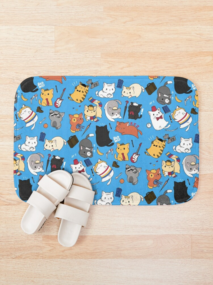 Alternate view of Time Lord Kittens Bath Mat